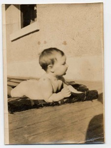 Dad on verandah at Goulburn Street