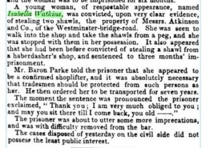 Extract from The Morning Post (London, England), Sunday, 31 March 1841 p 7