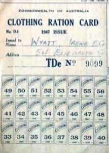 Ration card, image owned by author.
